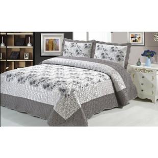 Cuvertura de pat din bumbac pentru pat dublu. 2 persoane, cu 3 piese - Tania