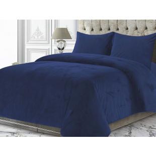 Cuvertura de pat din catifea pentru pat dublu cu 2 fete de perna, 2 persoane - Ocean