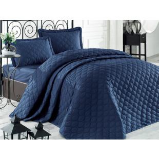 Cuvertura de pat dublu, matlasata, reversibila, pentru 2 persoane, cu 3 piese din bumbac 100%, Clasy - Felice