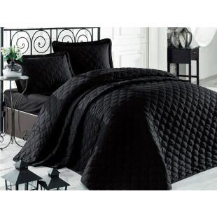 Cuvertura de pat dublu, matlasata, reversibila, pentru 2 persoane, cu 3 piese din bumbac 100%, Clasy - Gina