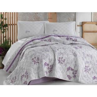 Cuvertura de pat dublu, matlasata, reversibila, pentru 2 persoane, cu 3 piese din bumbac 100%, Clasy - Sefora