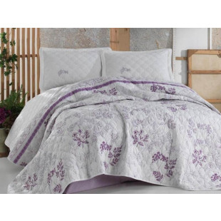 Cuvertura de pat, matlasata, moderna pentru 1 persoana din bumbac 100%, Clasy - Marina
