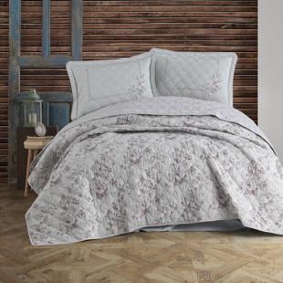 Cuvertura de pat dublu, matlasata, reversibila, pentru 2 persoane, cu 3 piese din bumbac 100%, Clasy - Sofia