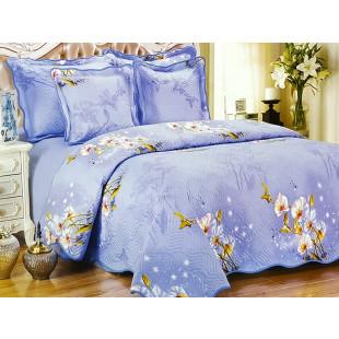 Cuvertura de pat dublu, matlasata, reversibila, pentru 2 persoane, cu 3 piese din bumbac 100%, East Confort - Alisha