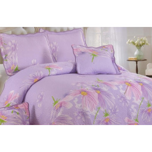 Cuvertura de pat dublu, matlasata, reversibila, pentru 2 persoane, cu 3 piese din bumbac 100%, East Confort - Lenny