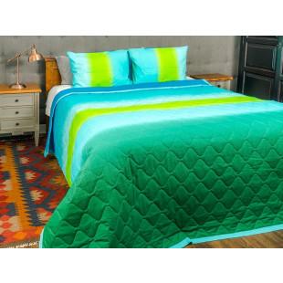 Cuvertura de pat dublu, matlasata, reversibila, pentru 2 persoane, cu 3 piese din bumbac 100%, Majoli - Briana