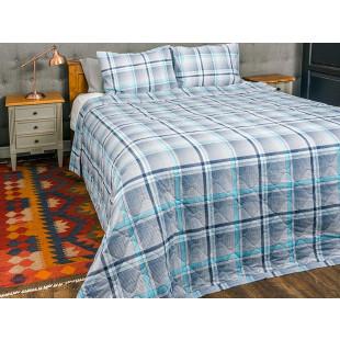 Cuvertura de pat dublu, matlasata, reversibila, pentru 2 persoane, cu 3 piese din bumbac 100%, Majoli - Dorothea