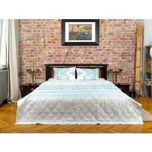 Cuvertura de pat dublu, matlasata, reversibila, pentru 2 persoane, cu 3 piese din bumbac 100%, Majoli - Romina