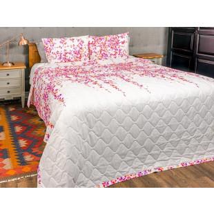 Cuvertura de pat dublu, matlasata, reversibila, pentru 2 persoane, cu 3 piese din bumbac 100%, Majoli - Selena