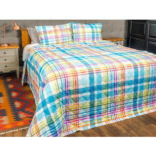 Cuvertura de pat dublu, matlasata, reversibila, pentru 2 persoane, cu 3 piese din bumbac 100%, Majoli - Sonia
