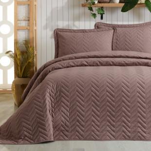 Cuvertura de pat dublu, matlasata, reversibila, pentru 2 persoane, cu 3 piese din bumbac 100%, Ralex Pucioasa - Clasy - Mira