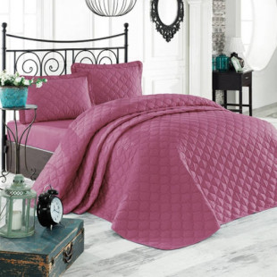 Cuvertura de pat dublu, matlasata, reversibila, pentru 2 persoane, cu 3 piese din bumbac 100%, Ralex Pucioasa - Clasy - Sofia