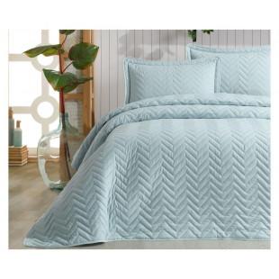 Cuvertura de pat dublu, matlasata, reversibila, pentru 2 persoane, cu 3 piese din bumbac 100%, Ralex Pucioasa - Clasy - Selena