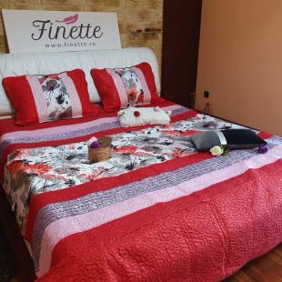 Cuvertura de pat dublu pentru 2 persoane din matase imprimata - cod produs CBMI4