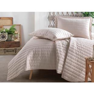 Cuvertura de pat moderna, matlasata si reversibila, pentru 1 persoana, cu 2 piese din bumbac 100%, Clasy - Seraia
