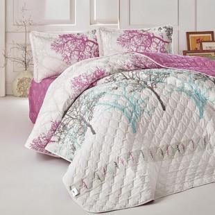 Cuvertura de pat pentru copii matlasata, reversibila, pentru 1 persoana, cu 2 piese din bumbac 100%, Ralex Pucioasa - Clasy - Fenia
