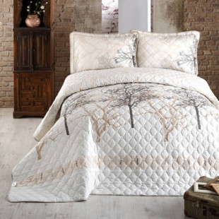 Cuvertura de pat pentru copii matlasata, reversibila, pentru 1 persoana, cu 2 piese din bumbac 100%, Ralex Pucioasa - Clasy - Natasha