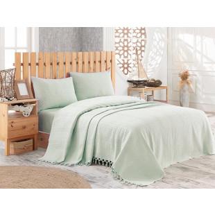 Cuvertura de pat pique, din bumbac 100%, pentru pat dublu 180x240 cm