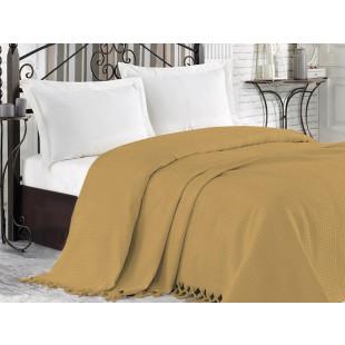 Cuvertura de pat pique, din bumbac 100%, pentru pat dublu 220x240 cm - Cora