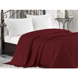 Cuvertura de pat pique, din bumbac 100%, pentru pat dublu 220x240 cm - Nadina