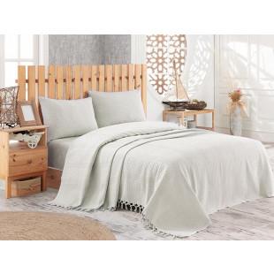 Cuvertura de pat pique, din bumbac 100%, pentru pat dublu 220x240 cm - Olivia