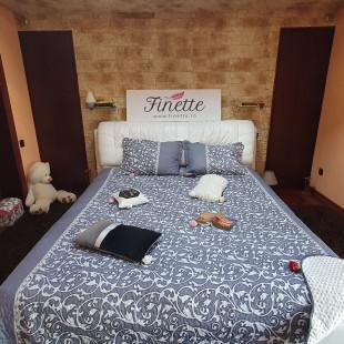 Cuvertura de pat reversibila din bumbac pentru pat dublu, 2 persoane