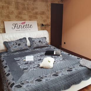 Cuvertura eleganta de pat dublu, pentru 2 persoane, din catifea - cod produs CBCE2