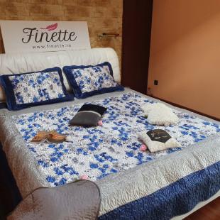 Cuvertura eleganta de pat dublu, pentru 2 persoane, din matase - cod produs CBMI12
