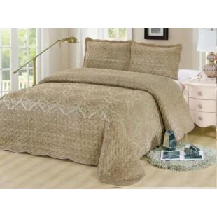 Cuvertura moderna de pat dublu. pentru 2 persoane, din catifea, cu 3 piese - Moana