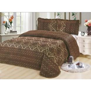 Cuvertura moderna de pat dublu. pentru 2 persoane, din catifea, cu 3 piese - Nadina