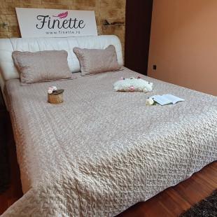 Cuvertura moderna de pat dublu, pentru 2 persoane, din catifea