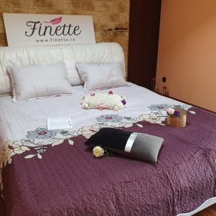 Cuvertura moderna de pat matrimonial din bumbac pentru pat dublu. 2 persoane