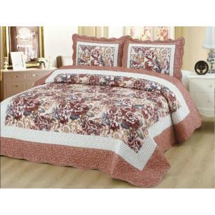 Cuvertura moderna de pat matrimonial din bumbac pentru pat dublu. 2 persoane, cu 3 piese - Lisa