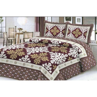 Cuvertura moderna de pat matrimonial din bumbac pentru pat dublu, 2 persoane, cu 3 piese - Sabrina