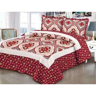 Cuvertura moderna de pat matrimonial din bumbac pentru pat dublu, 2 persoane, cu 3 piese - Tessa