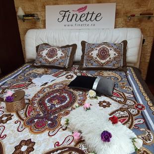 Cuvertura moderna de pat matrimonial din bumbac pentru pat dublu, 2 persoane - cod produs CBBF15