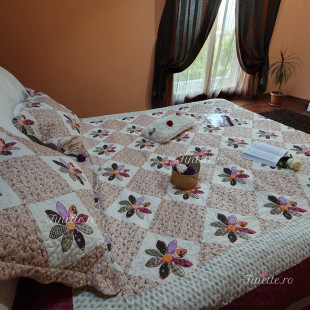 Cuvertura moderna de pat matrimonial din bumbac pentru pat dublu, 2 persoane - cod produs CBBF19