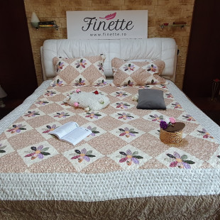Cuvertura moderna de pat matrimonial din bumbac pentru pat dublu, 2 persoane