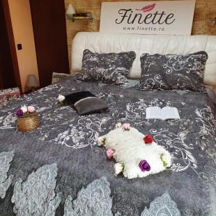Cuvertura moderna de pat matrimonial din bumbac pentru pat dublu, 2 persoane - cod produs CBBF32
