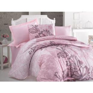 Lenjerie de pat pentru 2 persoane, 4 piese, Luoca Patisca, din bumbac 100% ranforce - Dena