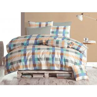 Lenjerie de pat pentru 2 persoane, 4 piese, Bahar Majoli, din bumbac 100% Ranforce - Eliane