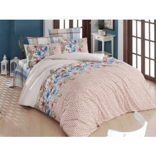 Lenjerie de pat pentru 2 persoane, 4 piese, Bahar Majoli, din bumbac 100% Ranforce - Estera