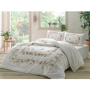 Lenjerie de pat pentru 2 persoane, 4 piese, TAC, din bumbac 100% Ranforce - Evelina