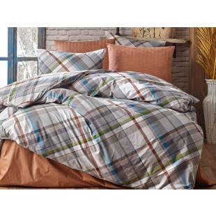 Lenjerie de pat pentru 2 persoane, 4 piese, Bahar Majoli, din bumbac 100% Ranforce - Fabiana