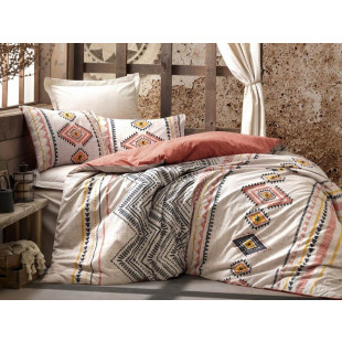 Lenjerie de pat pentru 2 persoane, 4 piese - Cotton box, din bumbac 100% - Felix