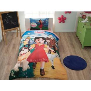 Lenjerie de pat pentru copii, pentru 1 persoana, 3 piese, TAC, din bumbac 100% - Heidi