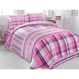 Lenjerie de pat pentru 2 persoane, 4 piese, Brielle, din bumbac 100% ranforce - Isabella