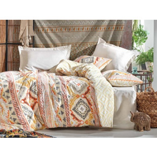 Lenjerie de pat pentru 2 persoane, 4 piese - Cotton box, din bumbac 100% - Jamila