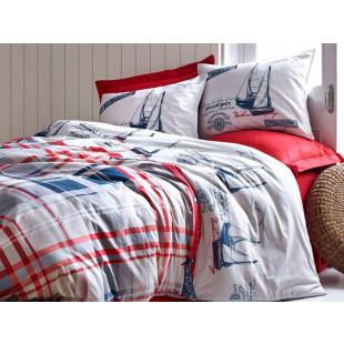 Lenjerie de pat pentru 2 persoane, 4 piese - Cotton box, din bumbac 100% - Klara