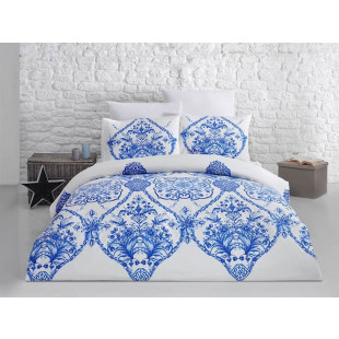 Lenjerie de pat pentru 2 persoane, 4 piese, Bahar Majoli, din bumbac 100% Ranforce - Klara